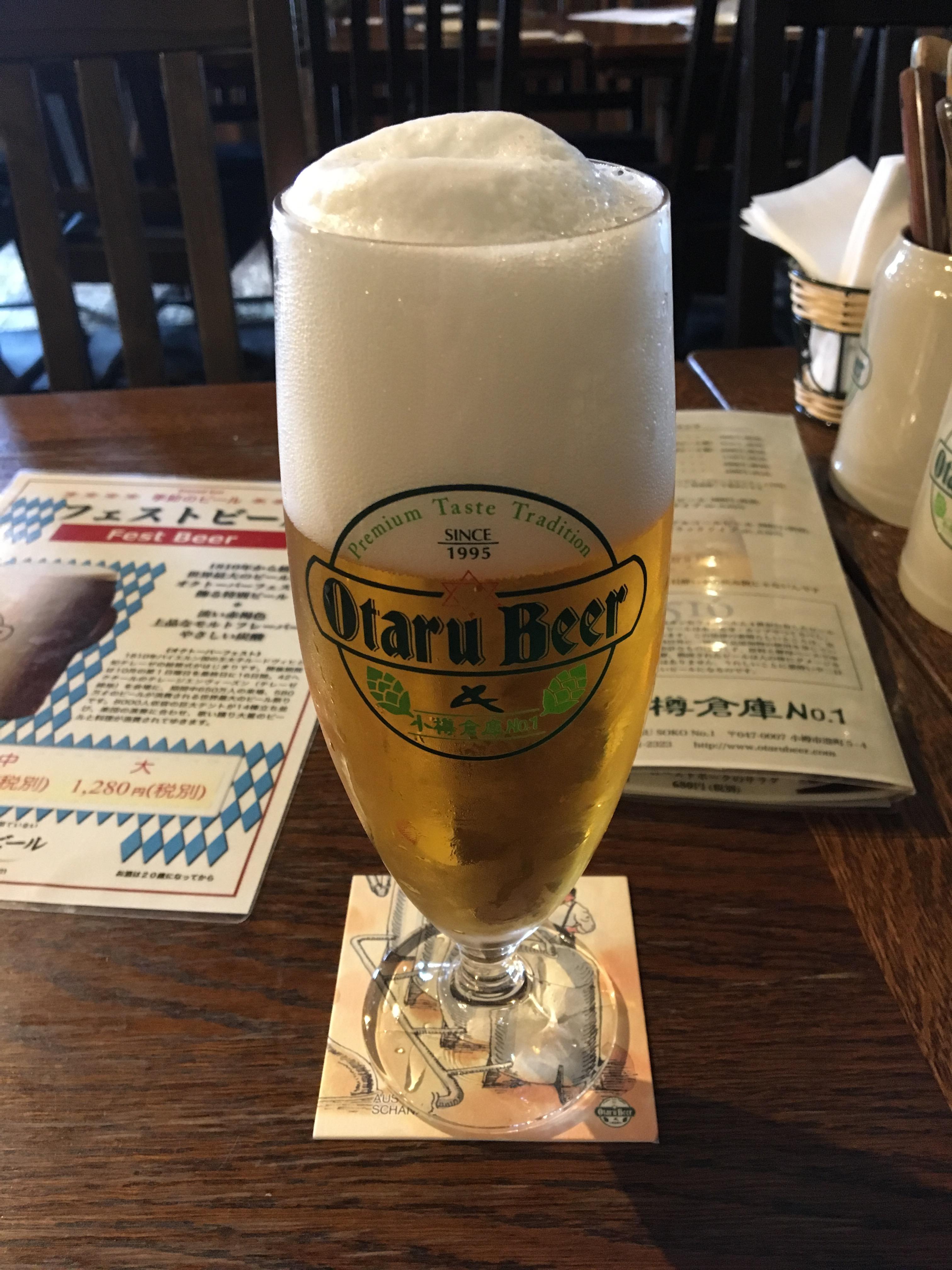 ランニングの後の楽しみはビール